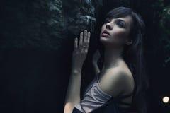 πορτρέτο brunette ομορφιάς Στοκ Φωτογραφία