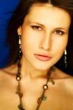 πορτρέτο brunette προκλητικό Στοκ Εικόνα