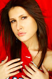 πορτρέτο brunette προκλητικό Στοκ φωτογραφία με δικαίωμα ελεύθερης χρήσης