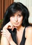 πορτρέτο brunette Στοκ Φωτογραφίες
