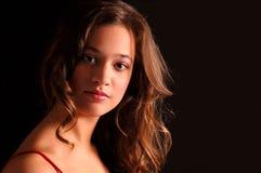 πορτρέτο brunette Στοκ εικόνα με δικαίωμα ελεύθερης χρήσης