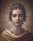 Πορτρέτο Fayumi Παλαιό θηλυκό πορτρέτο ύφους ζωγραφικής Στοκ Εικόνες