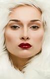 Πορτρέτο Glamor ενός όμορφου κοριτσιού Στοκ φωτογραφίες με δικαίωμα ελεύθερης χρήσης