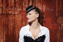 Πορτρέτο Grunge της όμορφης γυναίκας Στοκ Εικόνες