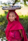 Πορτρέτο Monywa το Μιανμάρ μοναχών αγοριών παιδιών Στοκ εικόνα με δικαίωμα ελεύθερης χρήσης