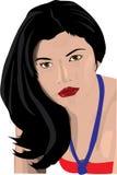 πορτρέτο s κοριτσιών ελεύθερη απεικόνιση δικαιώματος