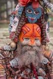 Πορτρέτο Sadhu στο ναό Pashupatinath στο Κατμαντού, Νεπάλ Στοκ Εικόνες