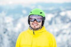 Πορτρέτο Snowboarder υπαίθρια Στοκ φωτογραφίες με δικαίωμα ελεύθερης χρήσης