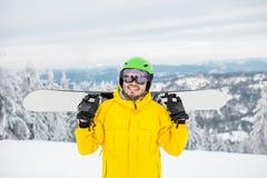 Πορτρέτο Snowboarder υπαίθρια Στοκ εικόνα με δικαίωμα ελεύθερης χρήσης
