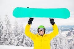 Πορτρέτο Snowboarder υπαίθρια Στοκ Φωτογραφία
