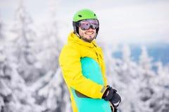 Πορτρέτο Snowboarder υπαίθρια Στοκ εικόνες με δικαίωμα ελεύθερης χρήσης