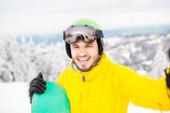 Πορτρέτο Snowboarder υπαίθρια Στοκ φωτογραφία με δικαίωμα ελεύθερης χρήσης