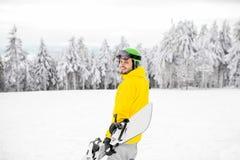 Πορτρέτο Snowboarder υπαίθρια Στοκ Φωτογραφίες