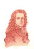 Πορτρέτο Watercolour Voltaire Στοκ Εικόνα