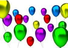 Πορφυρά, μπλε, πράσινα, κίτρινα, ρόδινα και κόκκινα γενέθλια Στοκ Εικόνα