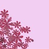 Πορφυρά λουλούδια κινούμενων σχεδίων απεικόνιση αποθεμάτων