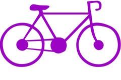 Πορφυρές εικόνες ποδηλάτων και υποβάθρου διανυσματική απεικόνιση