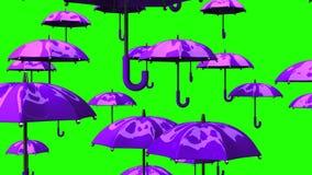 Πορφυρές ομπρέλες αύξησης διανυσματική απεικόνιση