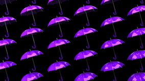 Πορφυρές ομπρέλες απεικόνιση αποθεμάτων