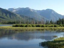 Πορφυρή λίμνη, Καναδάς, Π.Χ. Στοκ Φωτογραφίες