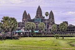 Πορφυρή ανατολή ναών Wat Angkor Στοκ Εικόνα