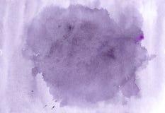 Πορφυρή απεικόνιση watercolor, συρμένη χέρι εικόνα Κυανός παφλασμός Στοκ φωτογραφία με δικαίωμα ελεύθερης χρήσης