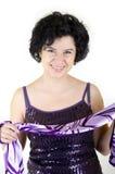 πορφυρή γυναίκα πορτρέτο&upsi στοκ εικόνες με δικαίωμα ελεύθερης χρήσης