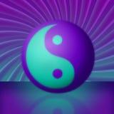 πορφυρή δίνη κιρκιριών yang yin Στοκ φωτογραφία με δικαίωμα ελεύθερης χρήσης
