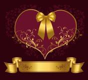 Πορφυρή καρδιά Στοκ εικόνα με δικαίωμα ελεύθερης χρήσης