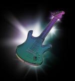 Πορφυρή κιθάρα Στοκ Φωτογραφία