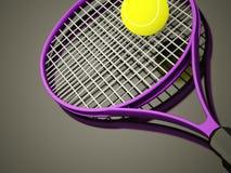 Πορφυρή ρακέτα αντισφαίρισης που δίνεται διανυσματική απεικόνιση
