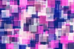 Πορφυρή ρόδινη και μπλε τετραγωνική περίληψη σχεδίων Στοκ φωτογραφία με δικαίωμα ελεύθερης χρήσης
