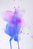 Πορφυρή ρόδινη σύσταση watercolor Στοκ εικόνες με δικαίωμα ελεύθερης χρήσης
