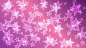 Πορφυρή ταπετσαρία υποβάθρου Bokeh αστεριών Στοκ Εικόνες