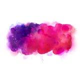 Πορφυροί, ιώδεις, ιώδεις και ρόδινοι λεκέδες watercolor Φωτεινό στοιχείο χρώματος για το αφηρημένο καλλιτεχνικό υπόβαθρο Στοκ Φωτογραφίες