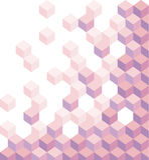 Πορφυροί κύβοι Γεωμετρικό υπόβαθρο, ταπετσαρία Εξαγωνική απεικόνιση τρισδιάστατος αφηρημένο διάνυσμα ανασκόπ& Στοκ εικόνες με δικαίωμα ελεύθερης χρήσης