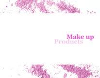 Πορφυρός αποτελέστε τη σκόνη και το διάστημα για το σχέδιο εμβλημάτων κειμένων Στοκ εικόνα με δικαίωμα ελεύθερης χρήσης