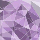 Πορφυρός αφηρημένος γεωμετρικός το τριγωνικό χαμηλό πολυ διάνυσμα ύφους Στοκ Φωτογραφία