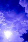 πορφυρός ουρανός Στοκ Φωτογραφία