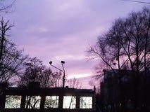 πορφυρός ουρανός Στοκ φωτογραφία με δικαίωμα ελεύθερης χρήσης