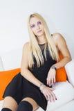 Πορφυρός Eyed ξανθός Στοκ εικόνα με δικαίωμα ελεύθερης χρήσης