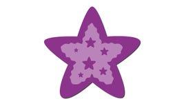 πορφυρό αστέρι Στοκ φωτογραφία με δικαίωμα ελεύθερης χρήσης