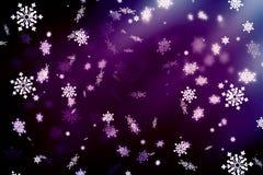 Πορφυρό αφηρημένο υπόβαθρο, snowflakes Υπόβαθρο Χριστουγέννων, Χριστούγεννα ελεύθερη απεικόνιση δικαιώματος