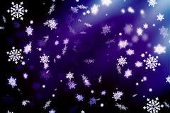 Πορφυρό αφηρημένο υπόβαθρο, snowflakes Υπόβαθρο Χριστουγέννων, Χριστούγεννα απεικόνιση αποθεμάτων