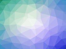 Πορφυρό γαλαζοπράσινο αφηρημένο διαμορφωμένο πολύγωνο υπόβαθρο κλίσης Στοκ Εικόνες