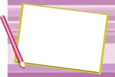 πορφυρό γράψιμο μαξιλαριών  Στοκ εικόνα με δικαίωμα ελεύθερης χρήσης