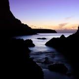 πορφυρό ηλιοβασίλεμα στοκ εικόνες με δικαίωμα ελεύθερης χρήσης