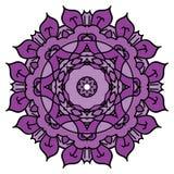 Πορφυρό διανυσματικό mandala σαν συμπαθητικό κύκλο μερών στοιχείων σχεδίου για να χρησιμοποιήσει το σας Στοκ φωτογραφία με δικαίωμα ελεύθερης χρήσης
