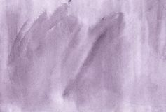 Πορφυρό καθιερώνον τη μόδα συρμένο χέρι καλλιτεχνικό brushstroke Watercolor illustr Στοκ εικόνα με δικαίωμα ελεύθερης χρήσης