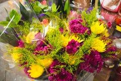 Πορφυρό και κίτρινο λουλούδι στο κατάστημα Στοκ Εικόνες
